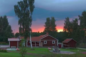 bystuga solnedgång